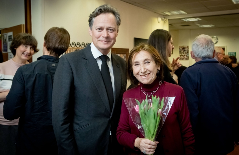 Matthew Offord with Hannah Lewis MBE