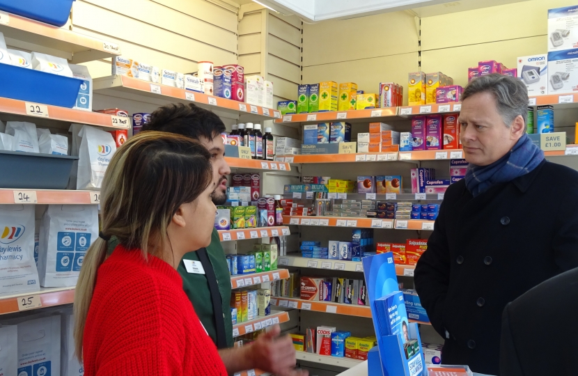 Matthew Offord at Mill Hill Pharmacy