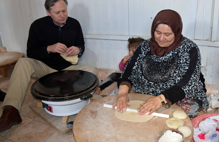 Syrian Refugee Camp Bread Making