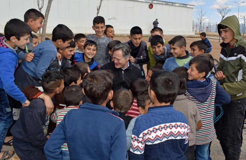 Matthew Offord in the Syrian Refugee Camp