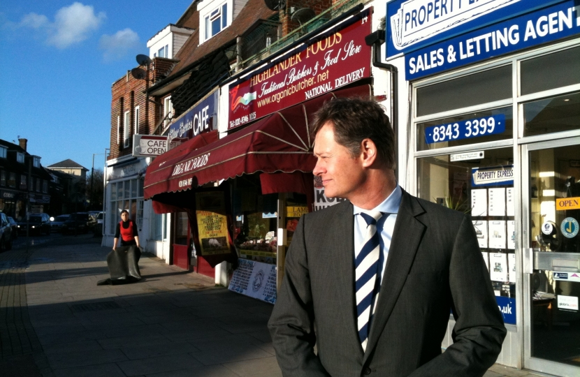 Matthew Offord MP in Mill Hill Broadway