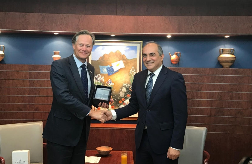 Matthew Offord with President of the House of Representatives Mr Demetris Syllouris