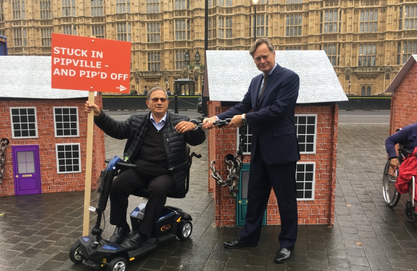 Matthew Offord MP with his constituent John