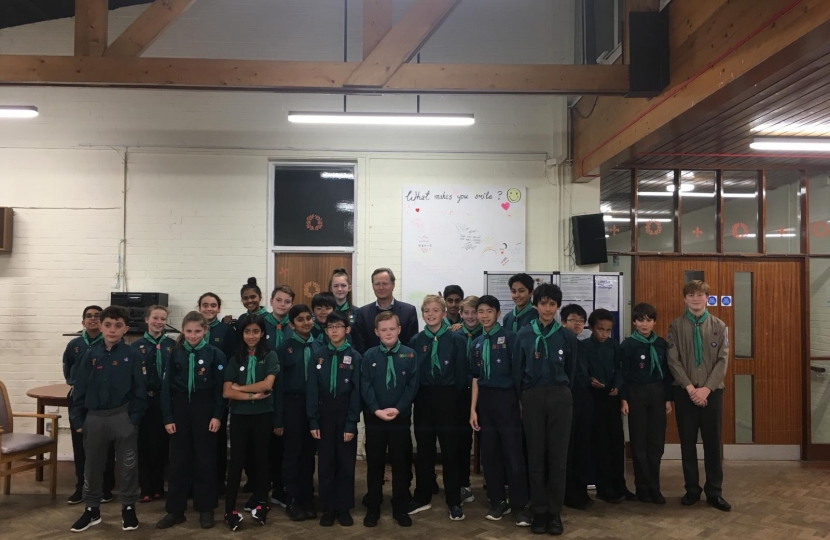 Matthew Offord MP with the 8th Hendon Scouts