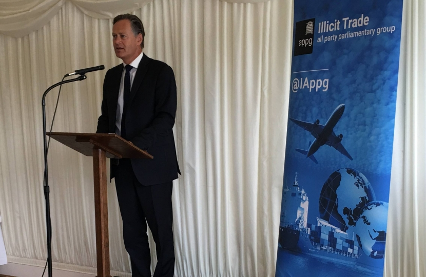 Matthew Offord MP at the launch of the report in Parliament