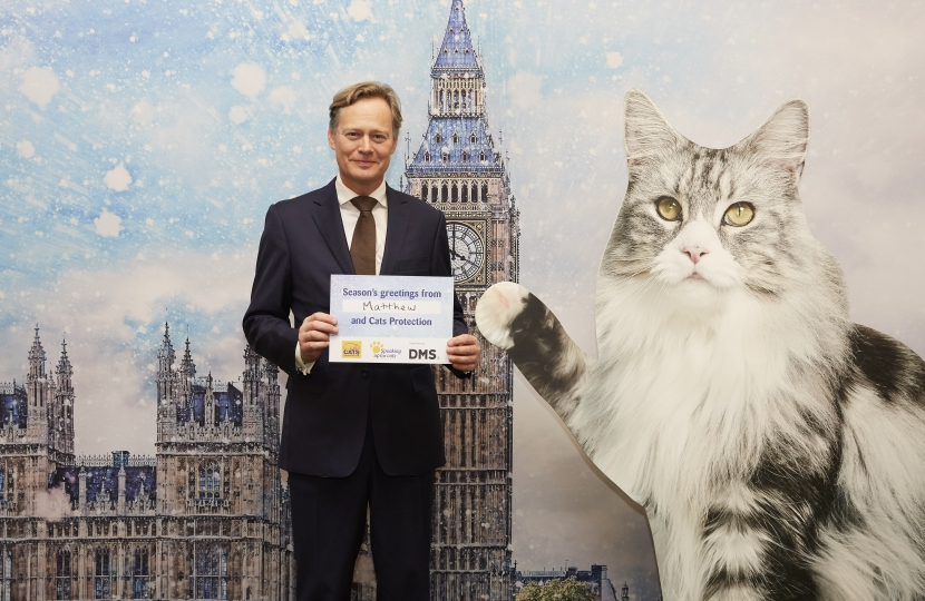 Matthew Offord MP at the Cats Protection reception