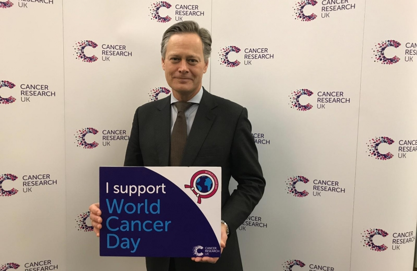 Matthew supporting Cancer Research UK