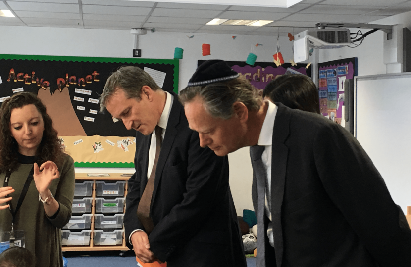 Matthew Offord MP with Education Secretary Damian Hinds in Hendon