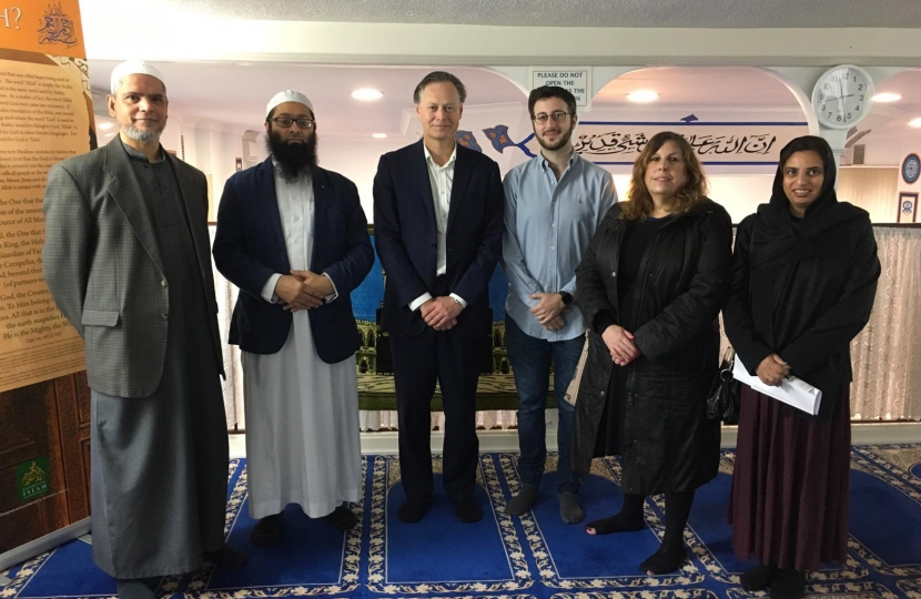 Matthew Offord MP at West Hendon Mosque