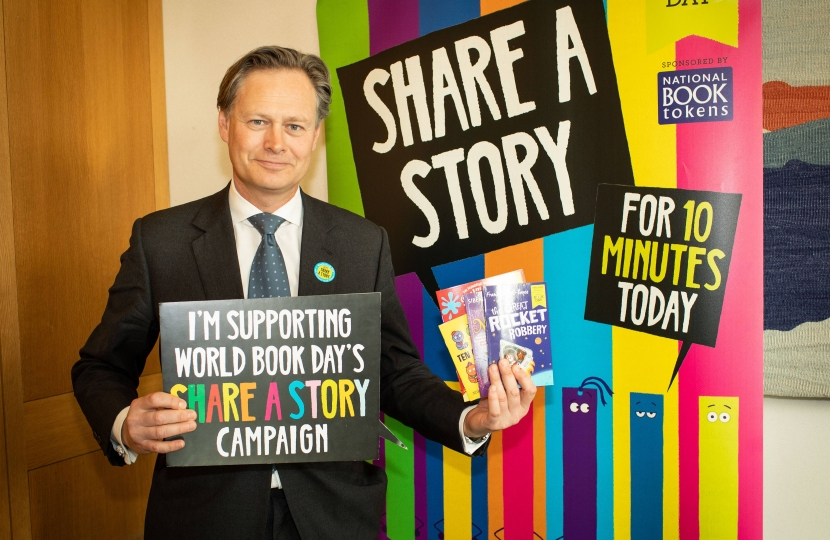 Matthew Offord MP celebrating World Book Day