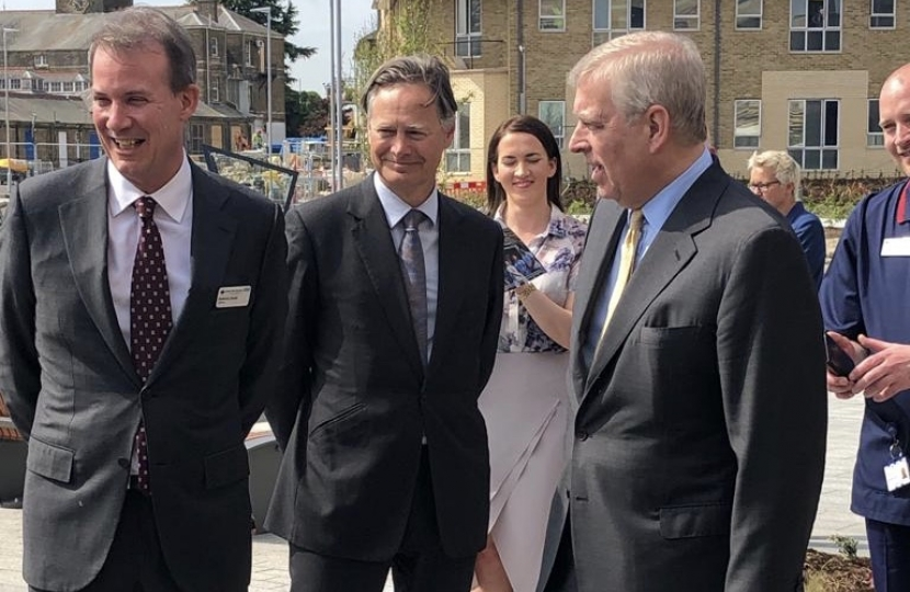 Matthew Offord MP with the Duke of York