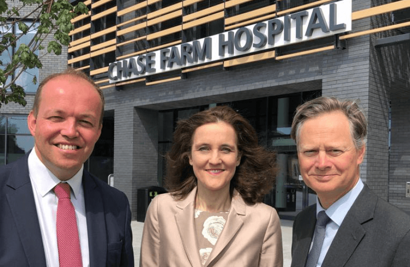 David Burrowes, Theresa Villiers & Matthew Offord
