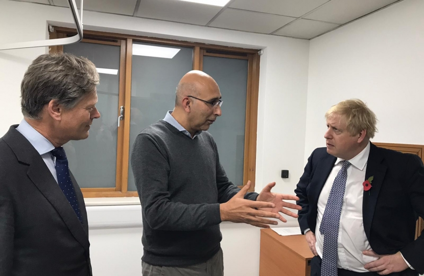 Boris Johnson at GP surgery