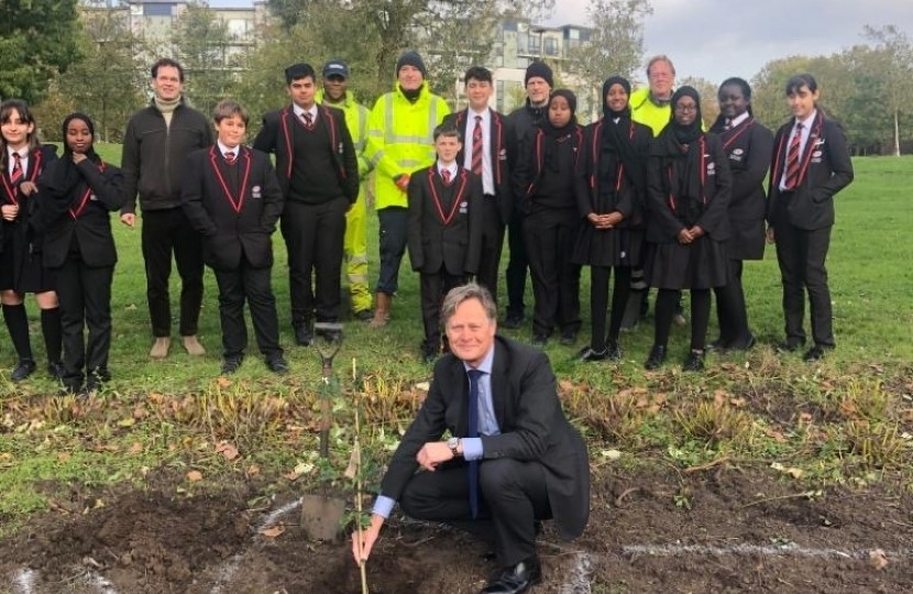Tree planting in Heybourne Park, Colindale