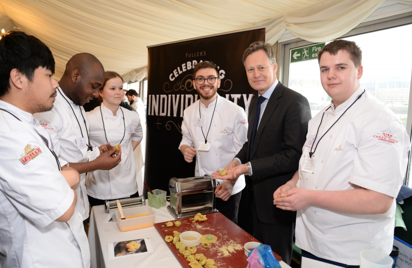 Matthew Offord MP with apprentices from Fullers